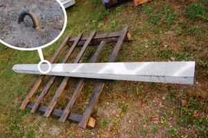 Słupki betonowe sadownicze